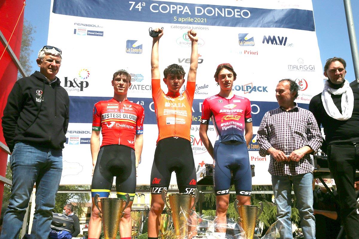 Il podio della Coppa Dondeo 2021 (foto Soncini)