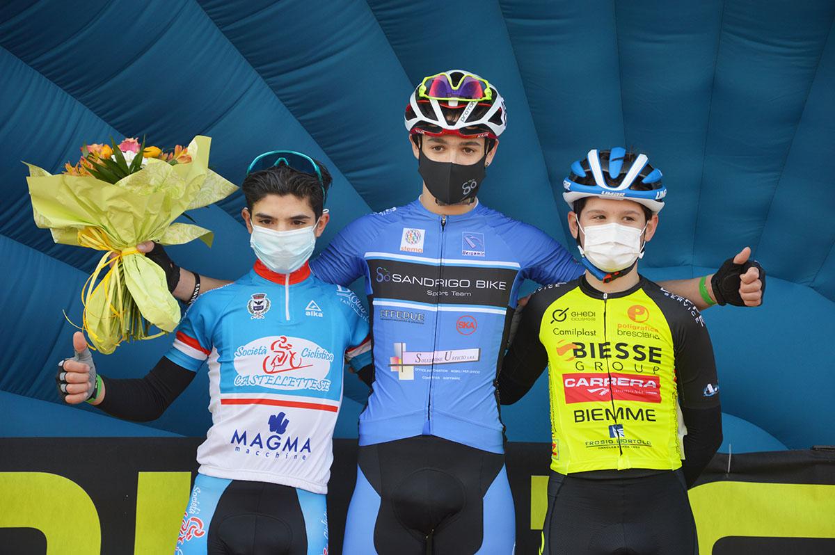 Il podio del Trofeo Comune di Salizzole - 1° anno