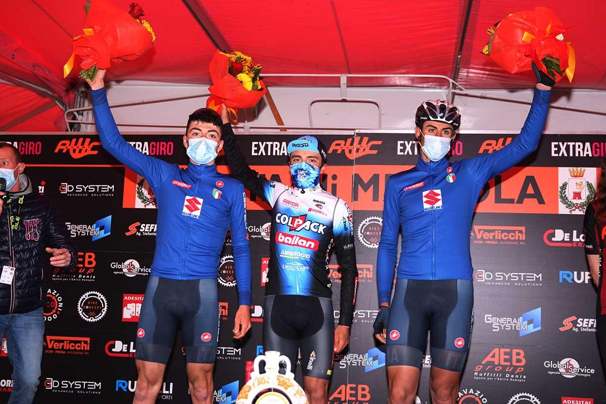 Il podio del Trofeo Città di Meldola 2021 (foto Soncini)