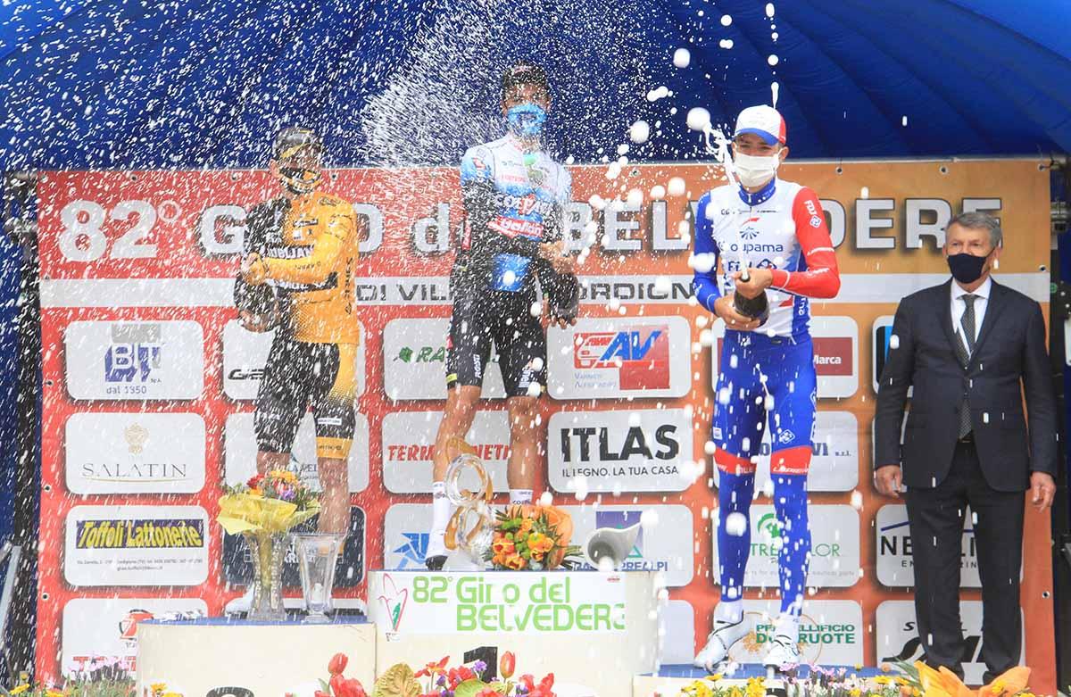 Il podio del Giro del Belvedere 2021 (foto Rodella)