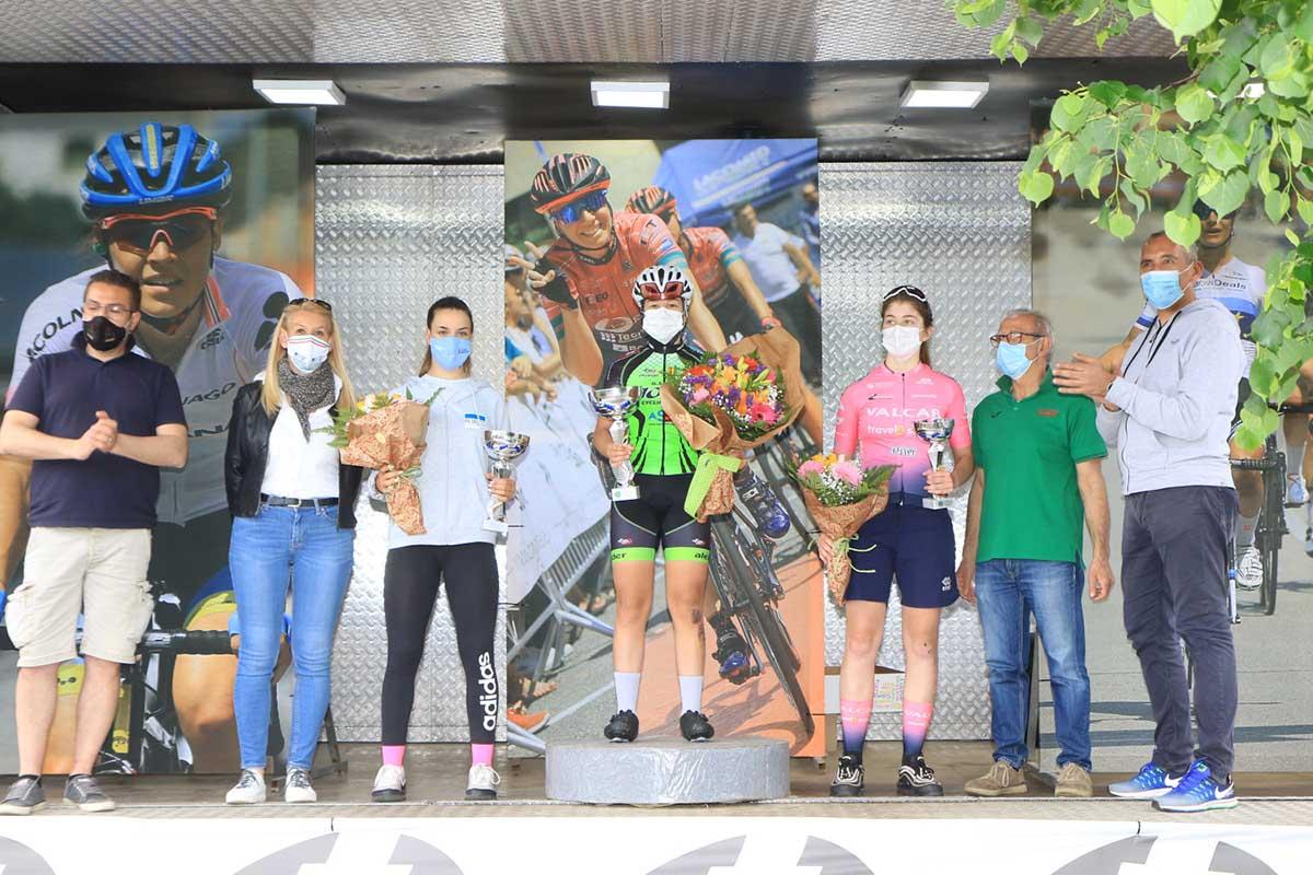 Il podio della gara Donne Allieve di Arcore (foto Fabiano Ghilardi)