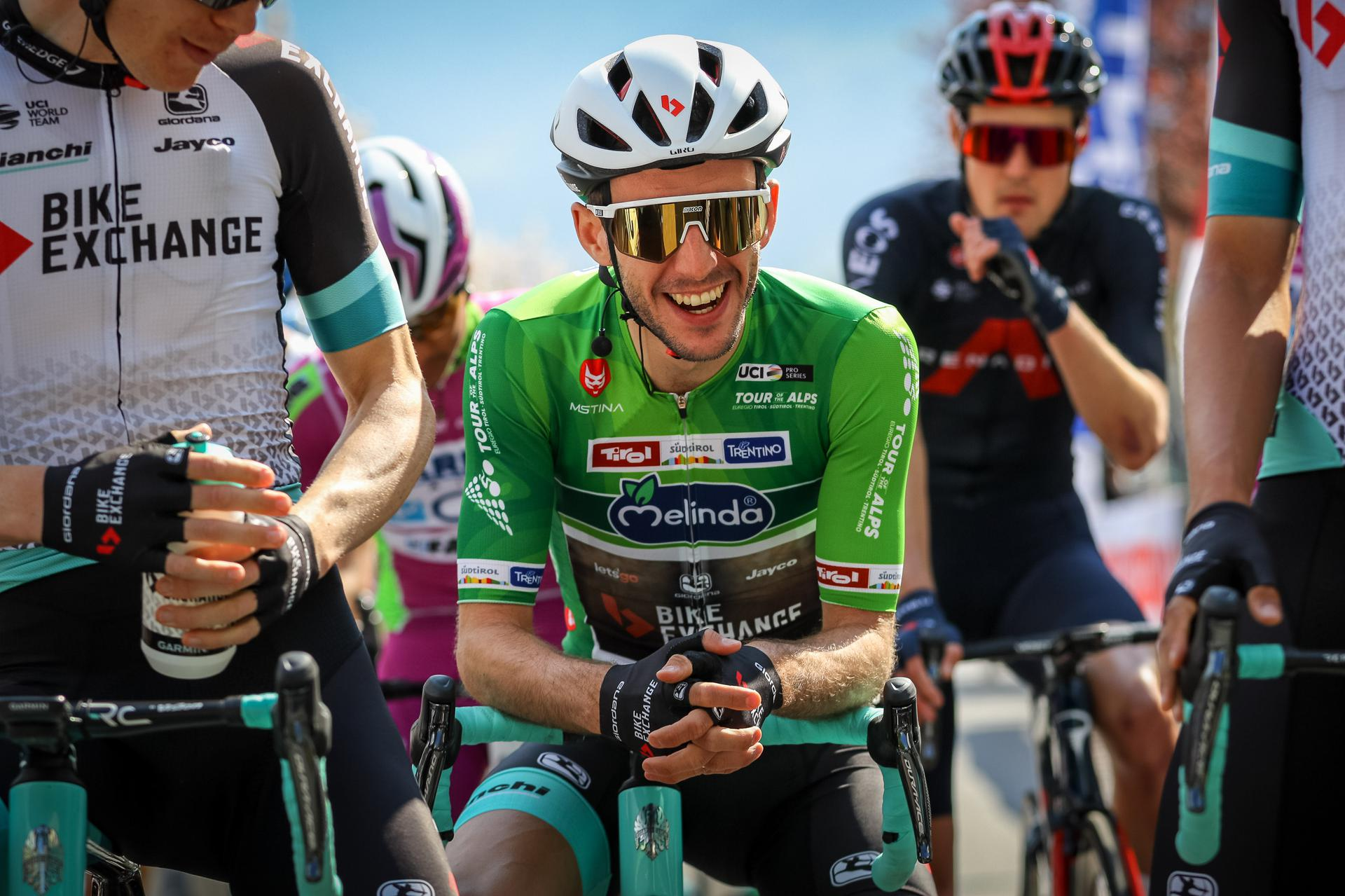Simon Yates leader dopo la quarta tappa del Tour of the Alps (foto BettiniPhoto)