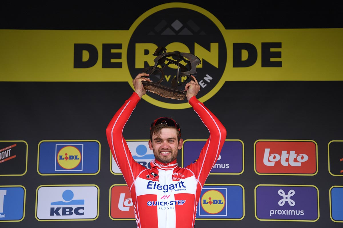 Kasper Asgreen vincitore del Giro delle Fiandre 2021 (foto Tim de Waele/Getty Images)
