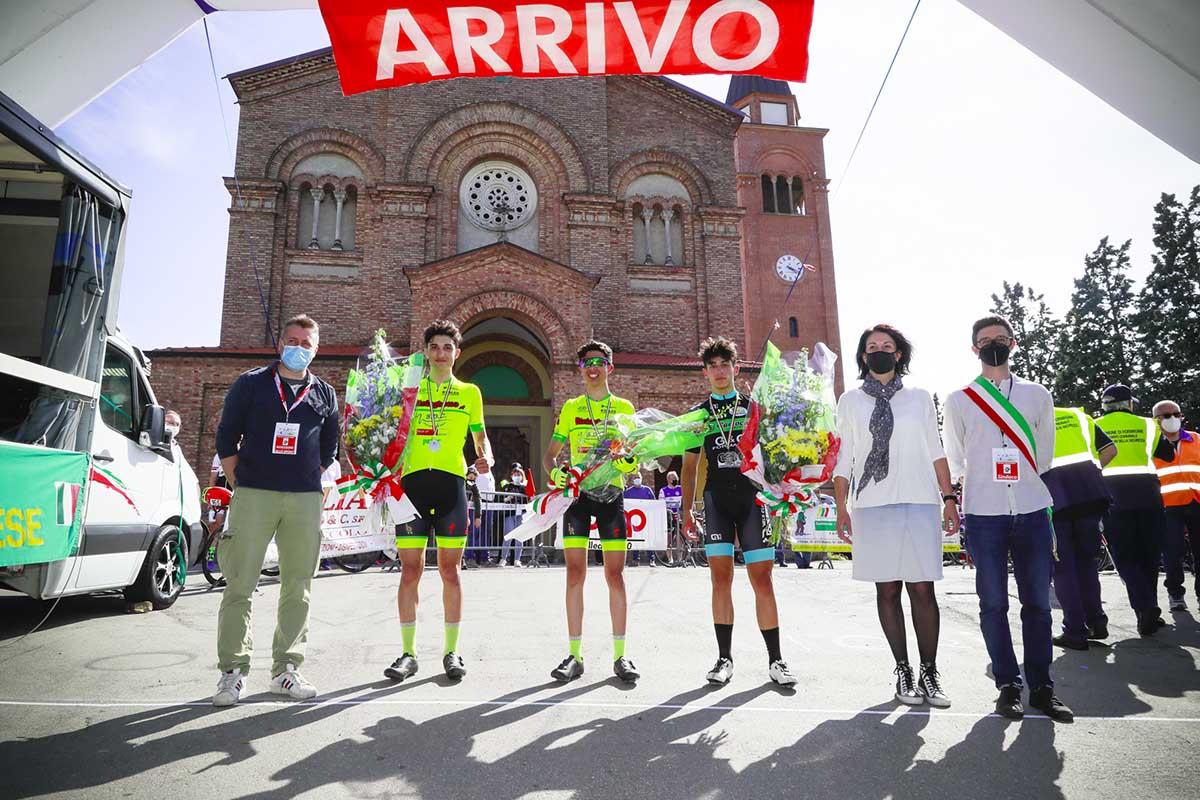 Il podio della gara Allievi di Marano Ospitaletto