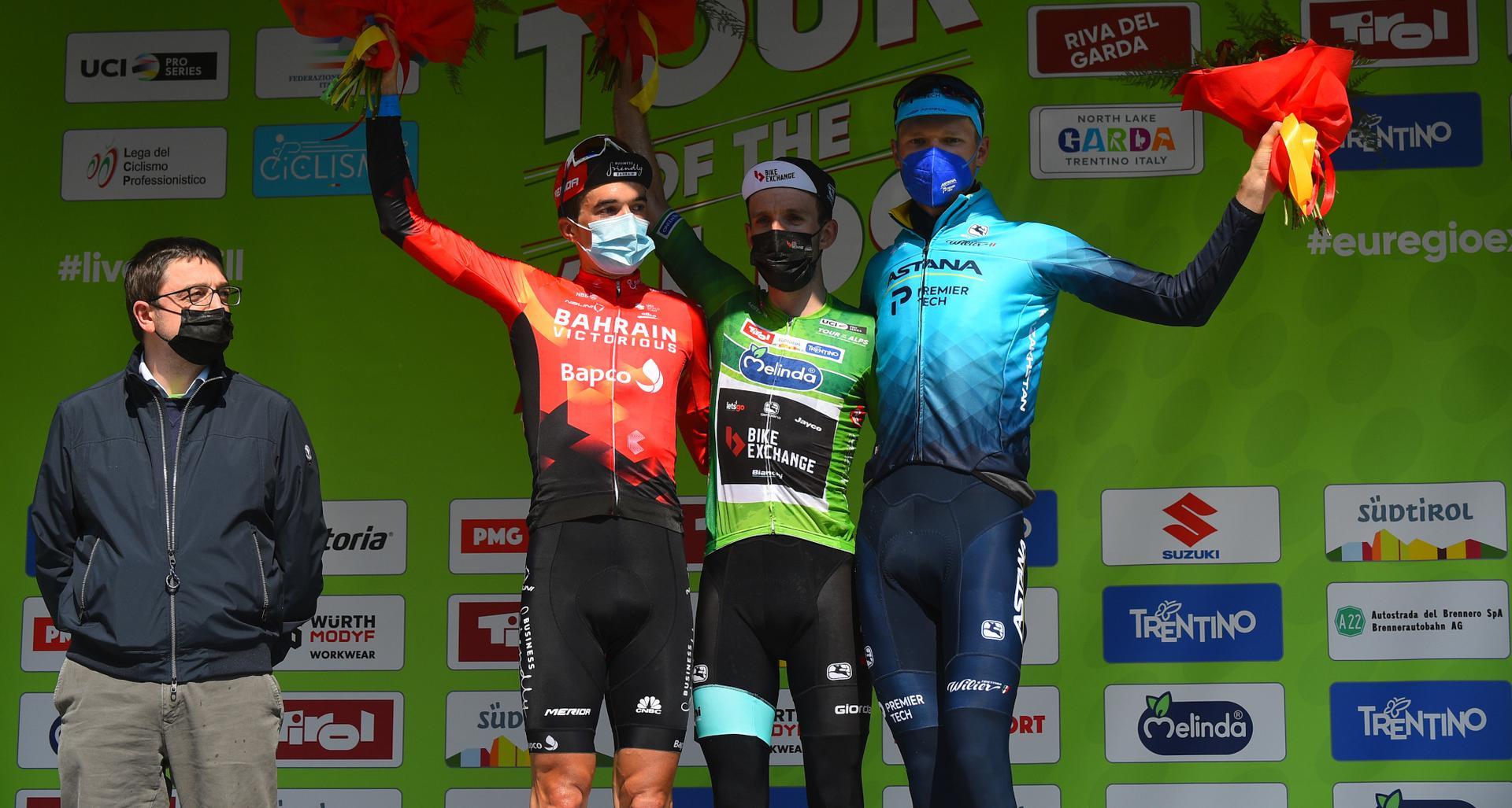 Il podio finale del Tour of the Alps (foto BettiniPhoto)