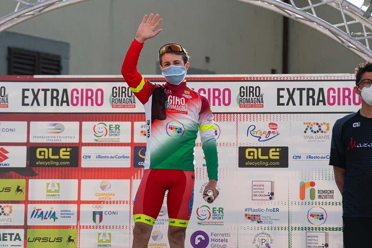 Francesco Romano resta leader dopo la seconda tappa del Giro di Romagna per Dante Alighieri 2021 (foto IsolaPress)