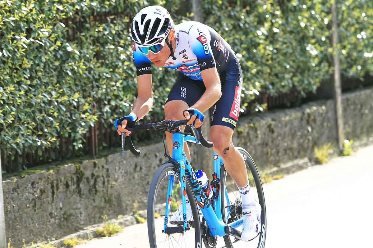 Juan Ayuso all'attacco al Trofeo Piva 2021 (foto Rodella)