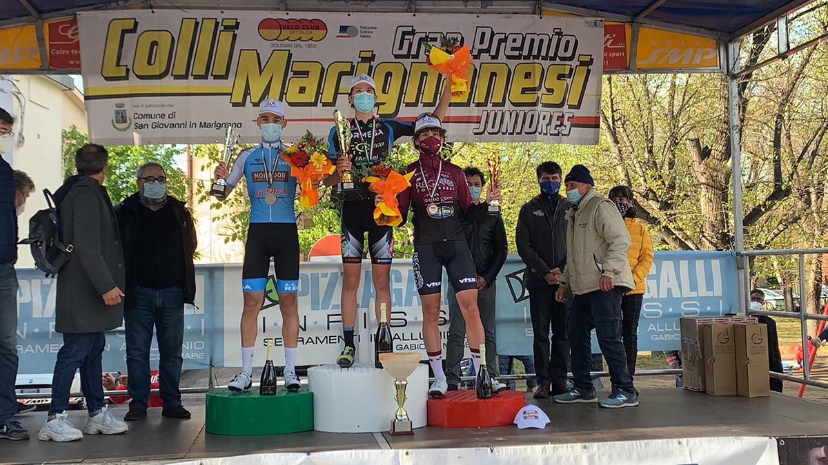 Il podio del 20° Gp Colli Marignanesi