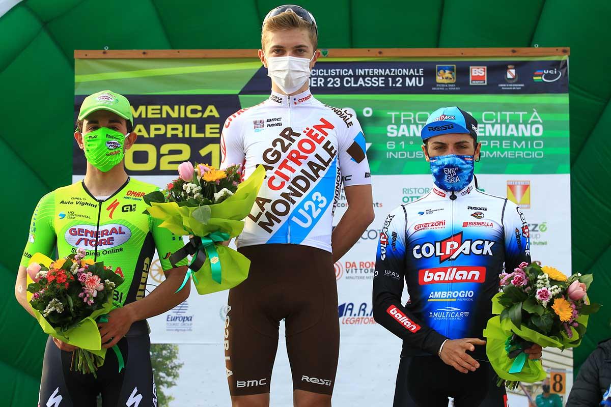 Il podio del Trofeo Città di San Vendemiano 2021