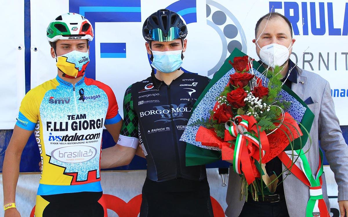 Il podio della Coppa Montes di Monfalcone (foto Rodella)