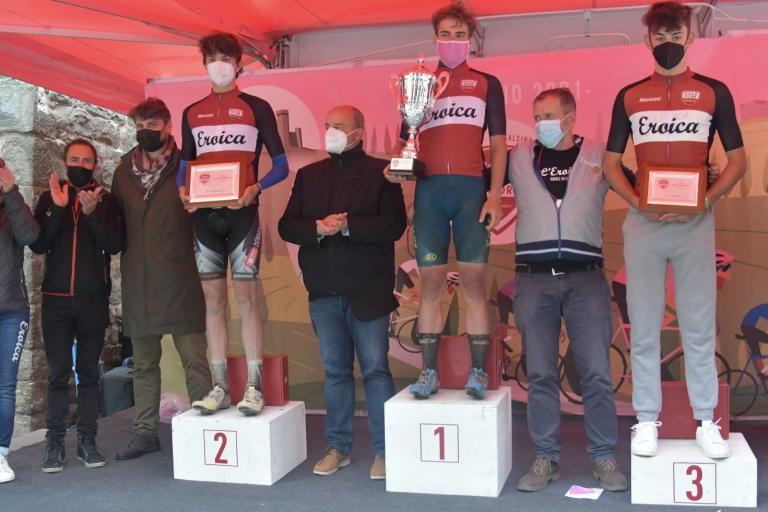 Il podio dell'Eroica Juniores 2021