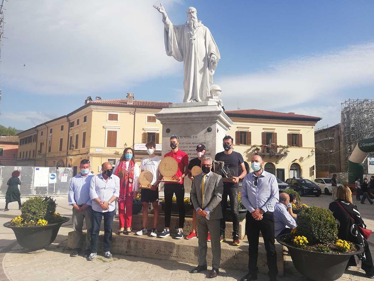Il podio del Trofeo San Benedetto di Norcia
