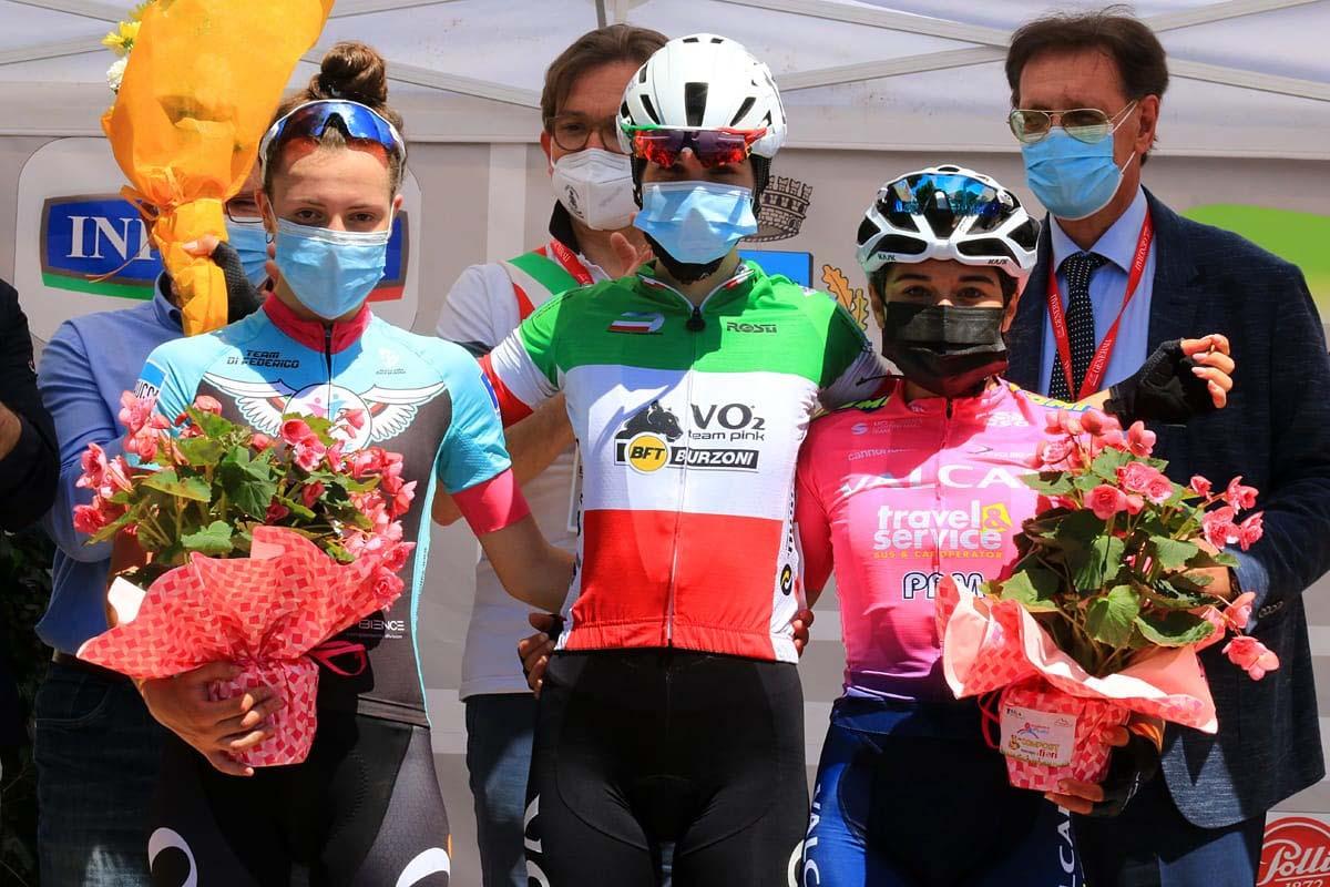 Il podio della Euganissima Flanders (foto F. Ossola)