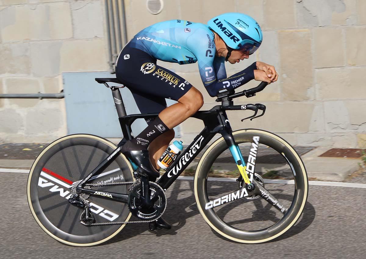 Matteo Sobrero in azione al Campionato Italiano a cronometro professionisti 2021 (foto Photobicicailotto)