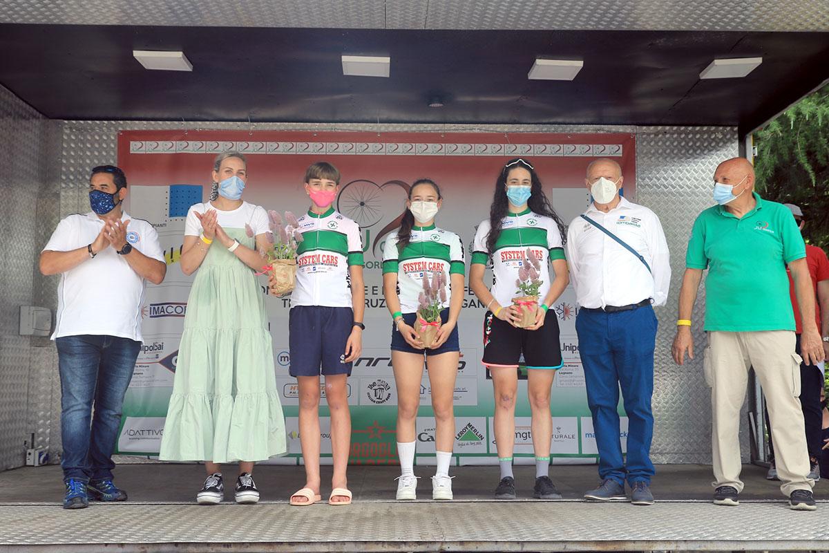 Le tre campionesse lombarde Donne Esordienti e Allieva a Gorla Minore (foto Fabiano Ghilardi)