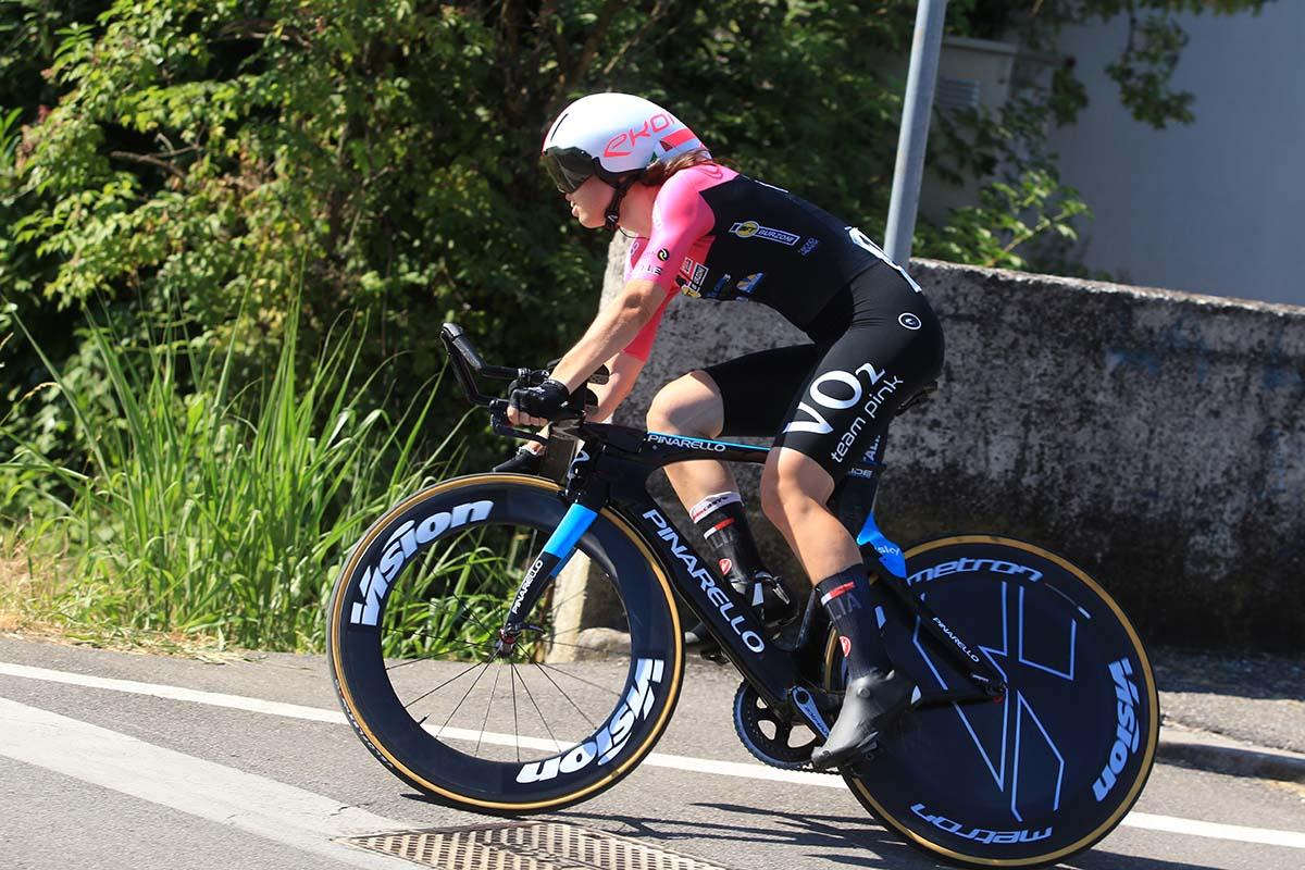 Carlotta Cipressi vince la cronometro Donne Junior di Romanengo (foto Fabiano Ghilardi)