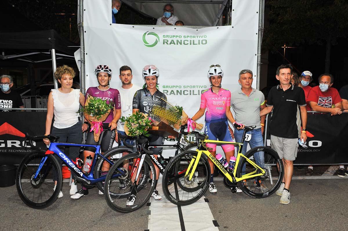 Il podio del Trofeo Rancilio Ladies 2021 (foto Walter Todaro)