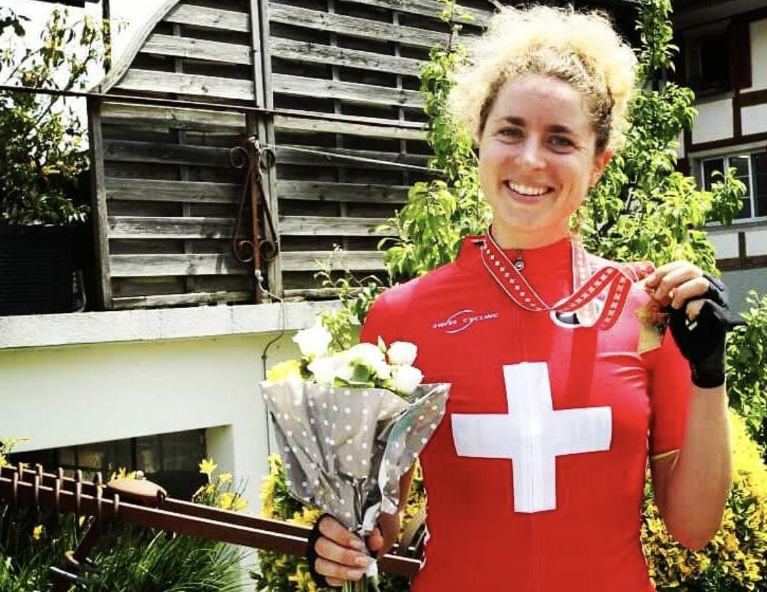 Marlen Reusser vince il titolo svizzero 2021 (foto Swiss Cycling)