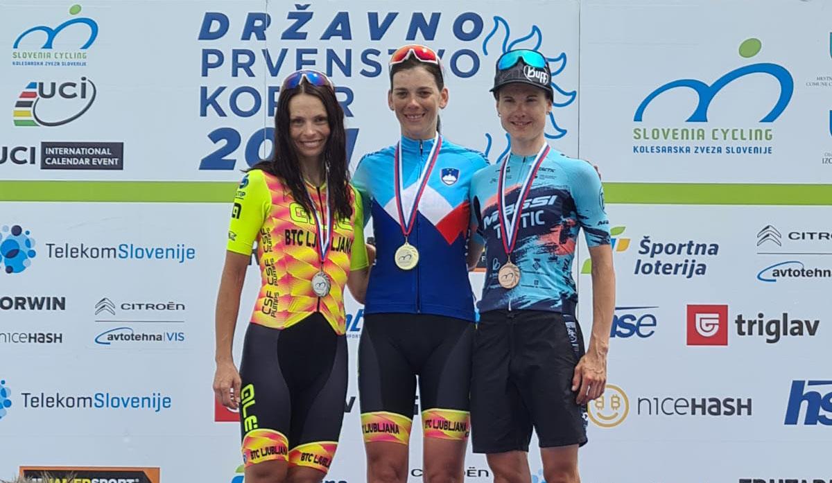 Il podio del Campionato Sloveno Donne Elite 2021