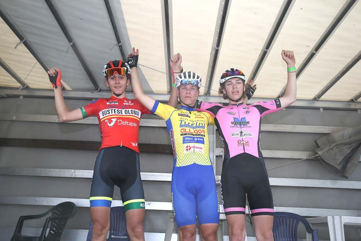 Il podio Allievi di Monticelli Brusati (foto Soncini)