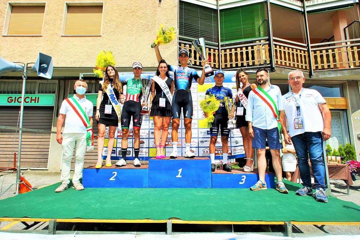 Il podio della Pessano-Roncola 2021 (foto Berry)