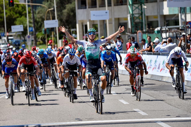 Pascal Ackermann vince l'ultima tappa della Settimana Ciclistica Italiana vinta da Diego Ulissi 2021 (foto BettiniPhoto)