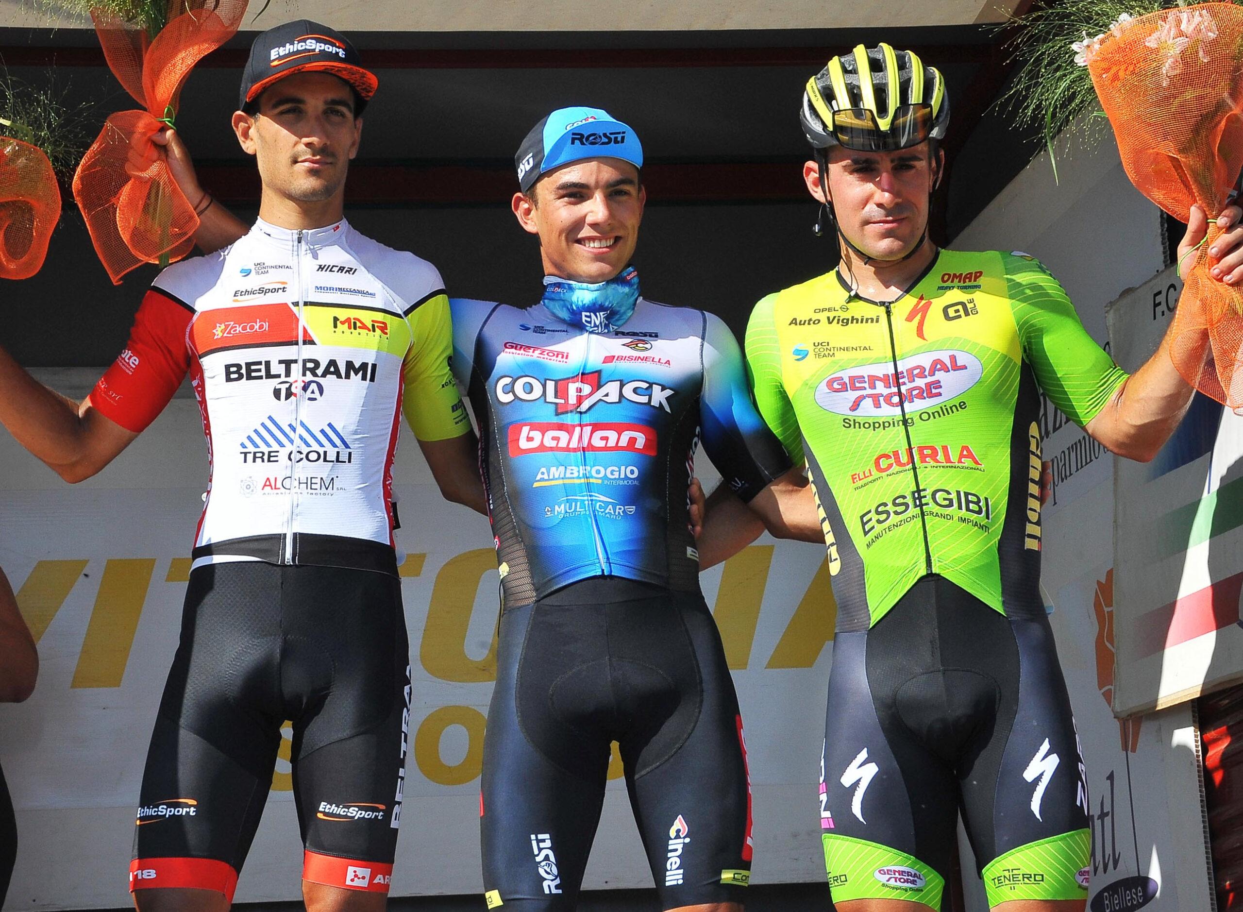 Il podio di Castelletto Cervo