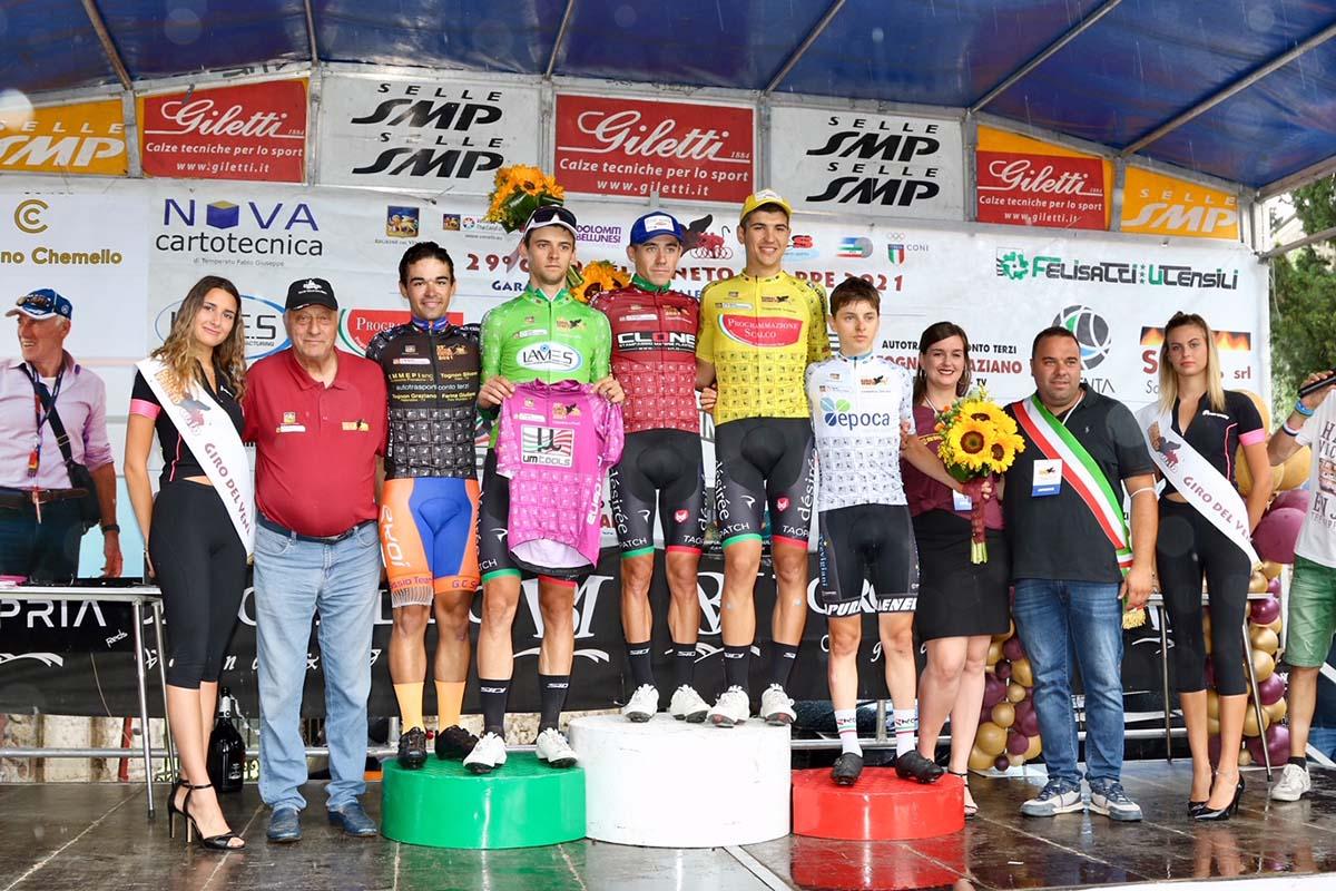 Le maglie dopo la quarta tappa del Giro del Veneto 2021 (foto Photobicicailotto)
