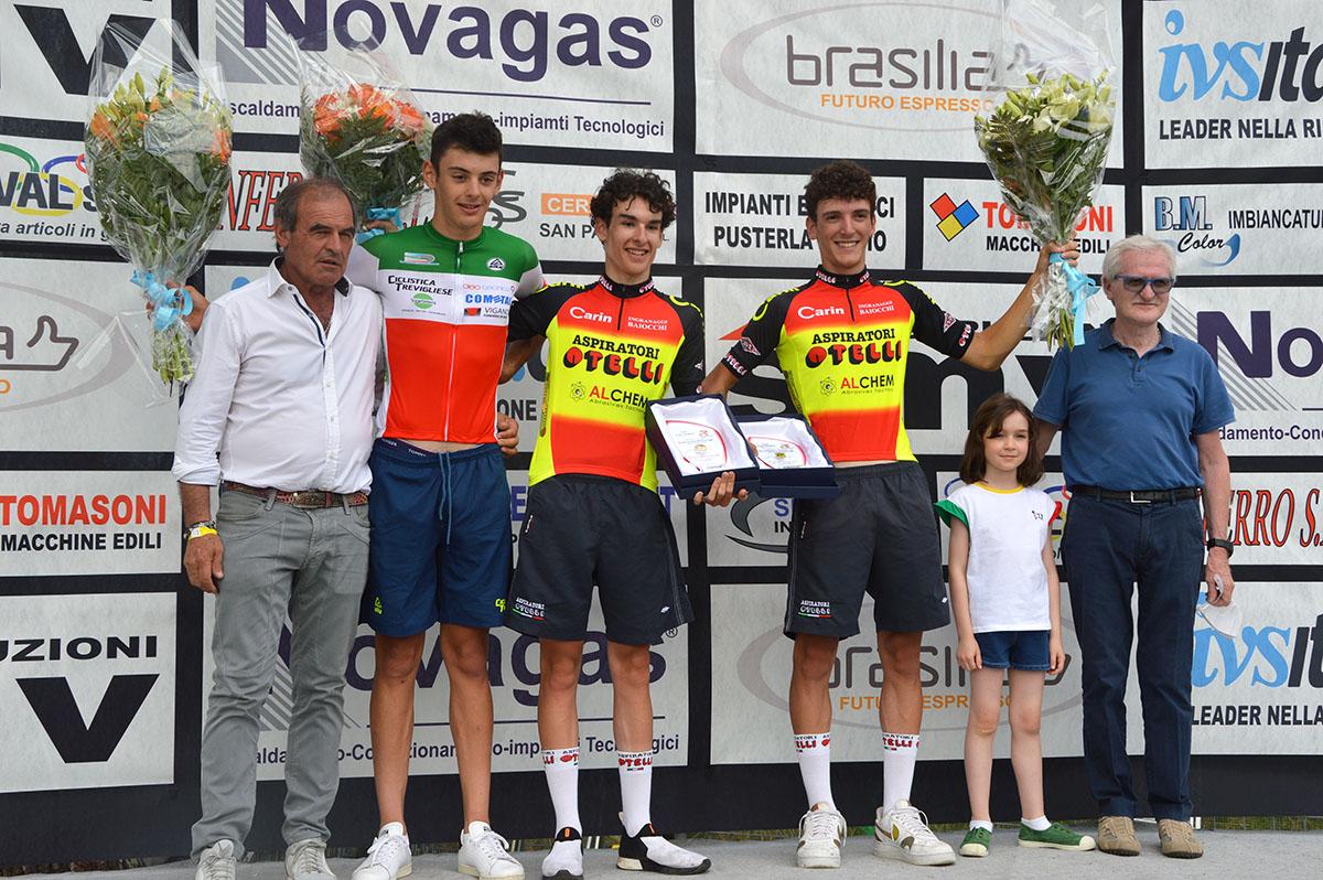 Il podio del 34° Trofeo Vittorio Giorgi