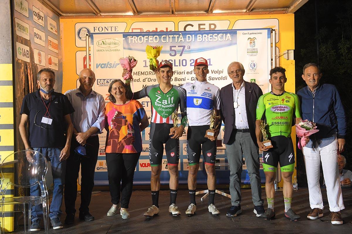 Il podio del Trofeo Città di Brescia 2021 (foto Rodella)