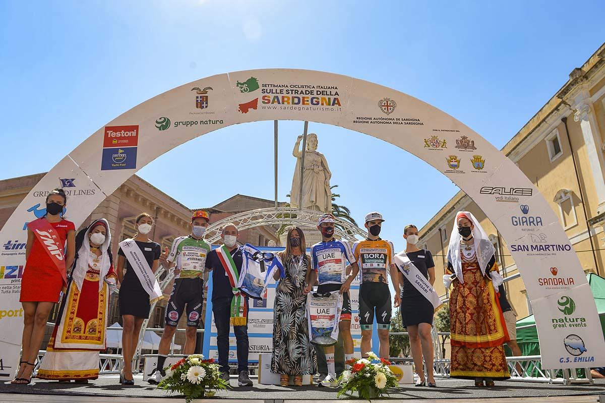 Le maglie dopo la seconda tappa della Settimana Ciclistica Italiana 2021 (foto BettiniPhoto)
