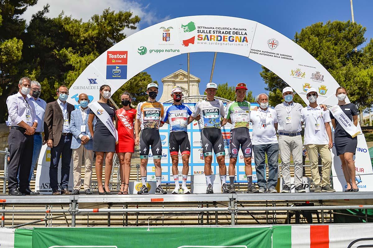Le maglie dopo la terza tappa della Settimana Ciclistica Italiana 2021 (foto BettiniPhoto)