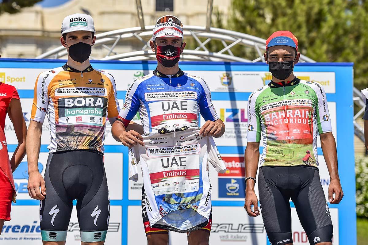 Tutte le maglie dopo la quarta tappa della Settimana Ciclistica Italiana 2021 (foto BettiniPhoto)