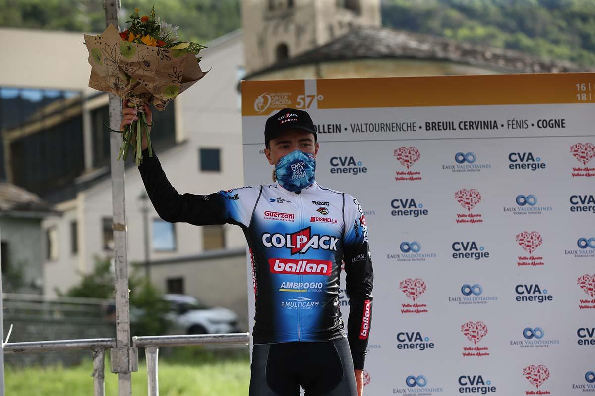 Alessandro Verre vincitore della prima tappa del Giro della Valle d'Aosta 2021 (foto Giuliano Viganò)