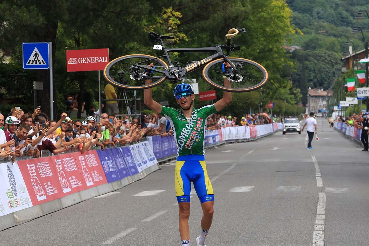 Alessandro Romele vince il Campionato Italiano Juniores a Darfo Boario Terme (foto Fabiano Ghilardi)