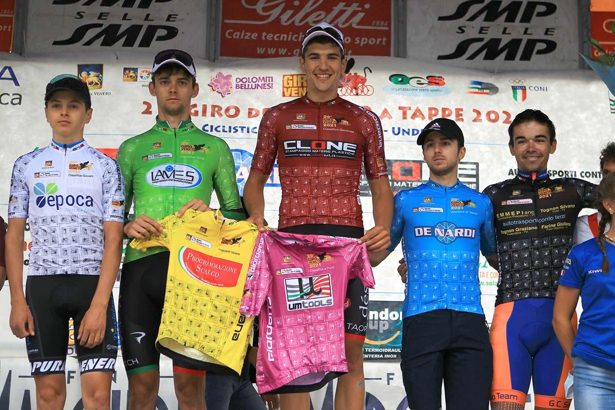 Le maglie finali del Giro del Veneto 2021 (foto Photors)