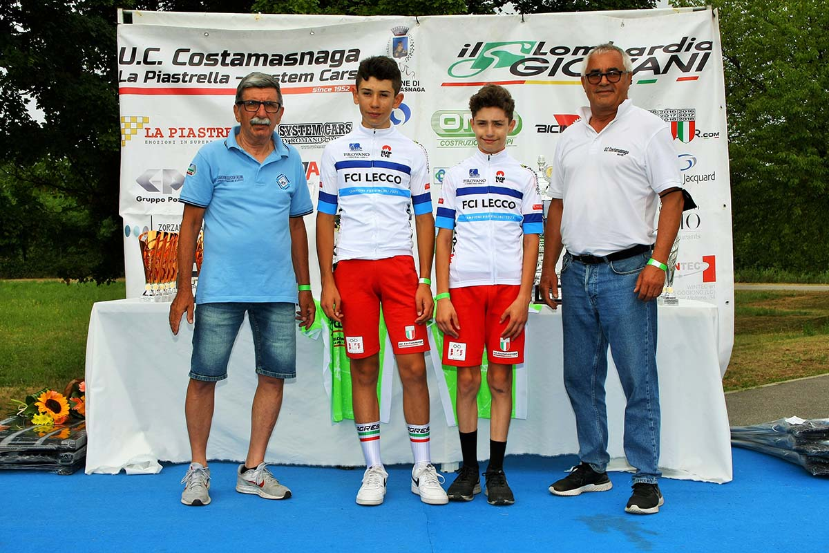 Giacomo Agostino (1° anno) e Andrea Roda (2° anno), campioni provinciali di Lecco Esordienti (foto Berry)