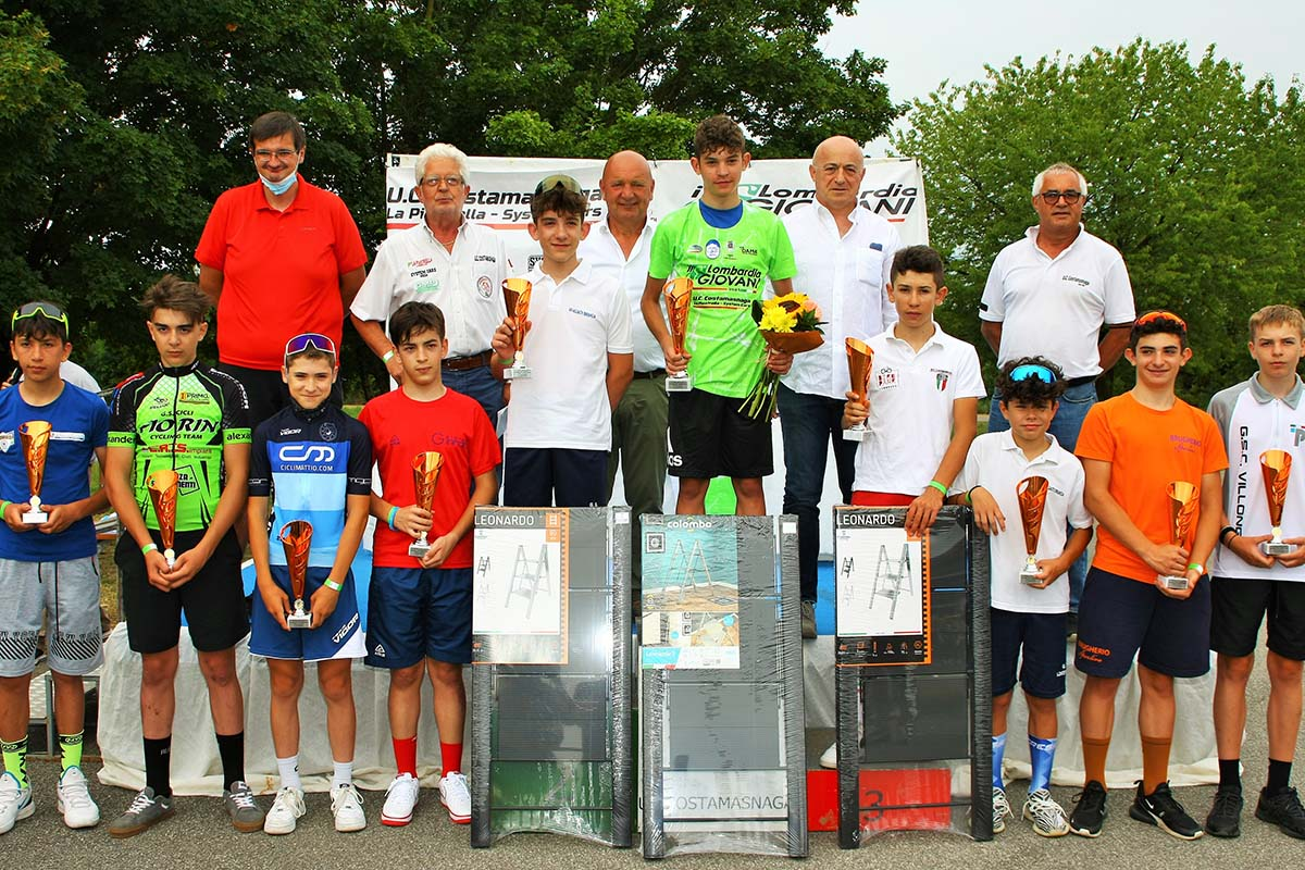 Il podio del Lombardia Giovani 2021 Esordienti 1° anno (foto Berry)