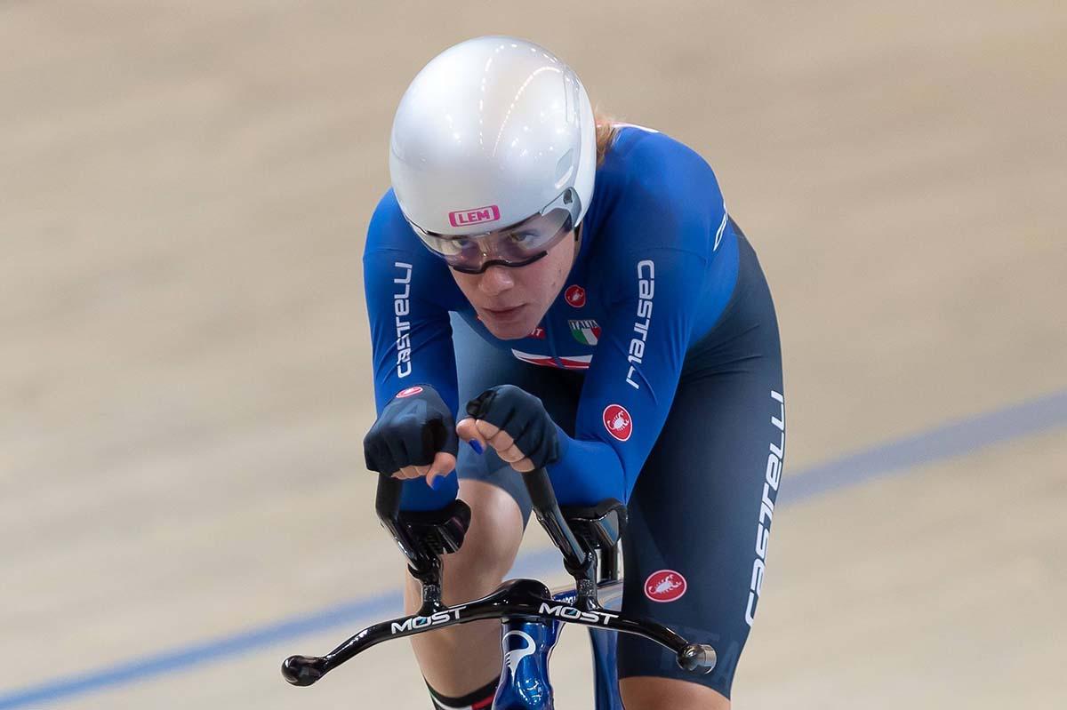 Silvia Zanardi vincitrice del Campionato Europeo Inseguimento individuale Donne Under 23 (foto Sportfoto.nl)