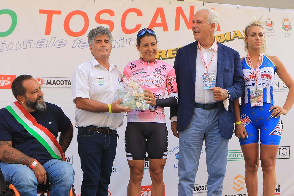 Arlenis Sierra vince il cronoprologo ed è prima leader del Giro della Toscana femminile 2021 (foto Fabiano Ghilardi)