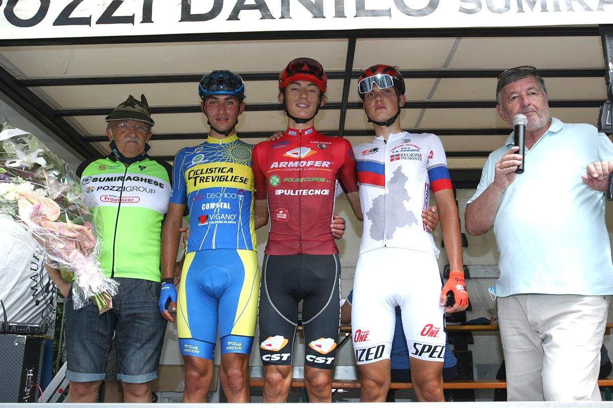Il podio di Sumirago (foto Giuliano Viganò)