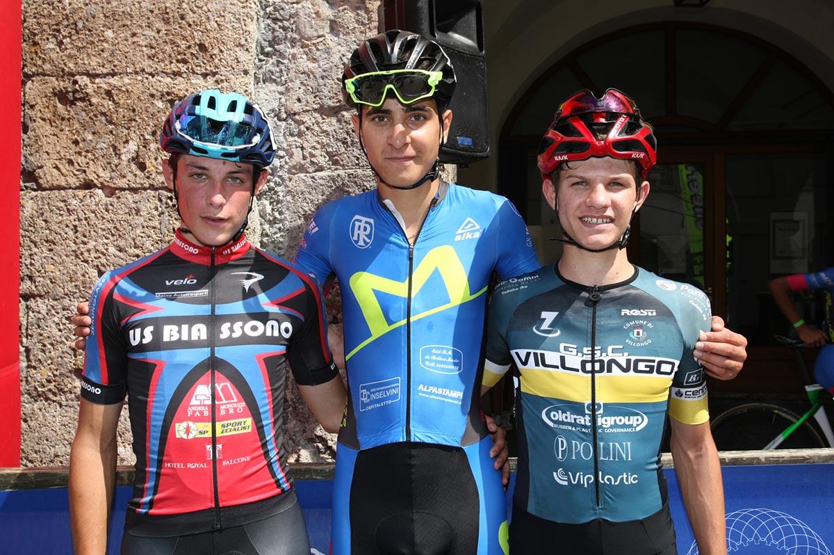 Il podio della gara Allievi di Clusone (foto Giuliano Viganò)