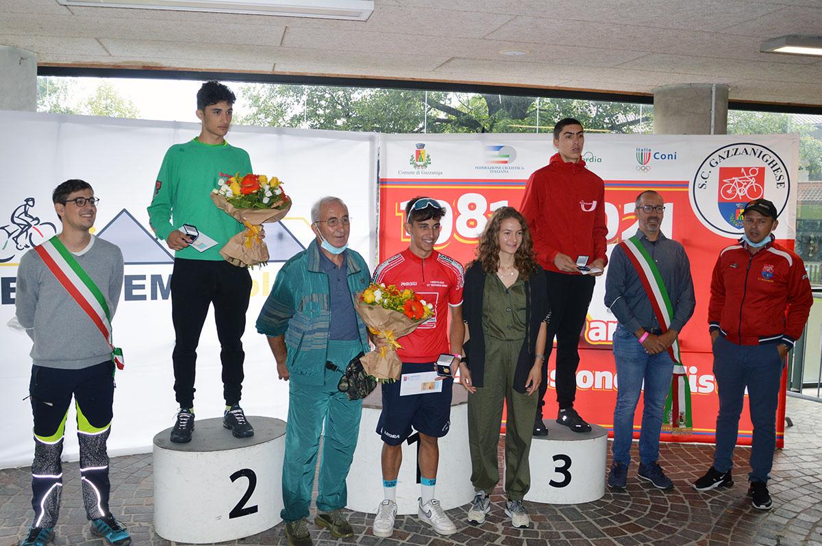 Il podio del 34° Trofeo Gbc Apprettificio