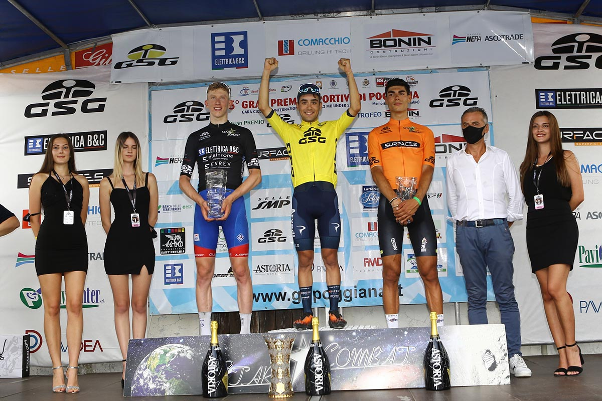 Il podio del 45° Gp Sportivi di Poggiana