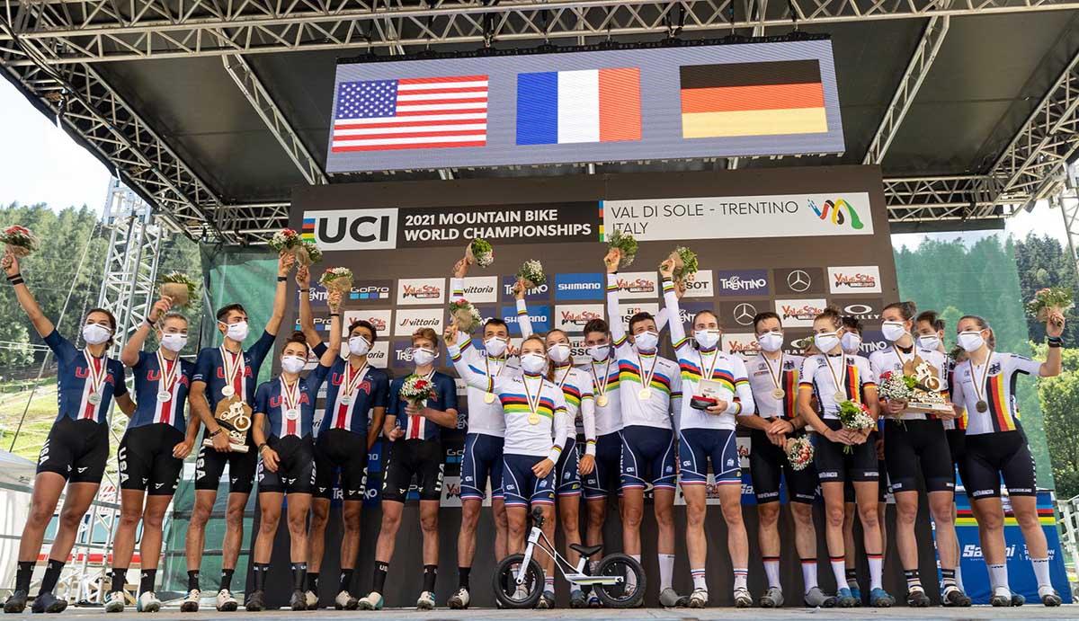Francia campione mondiale del Team Relay in Val di Sole (foto Michele Mondini)