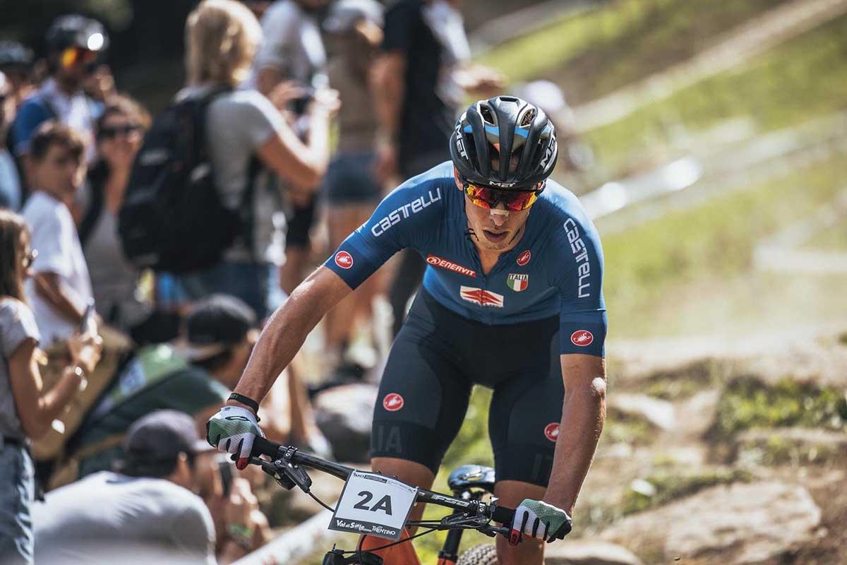 Luca Braidot in azione al Mondiale del Team Relay in Val di Sole (foto Michele Mondini)