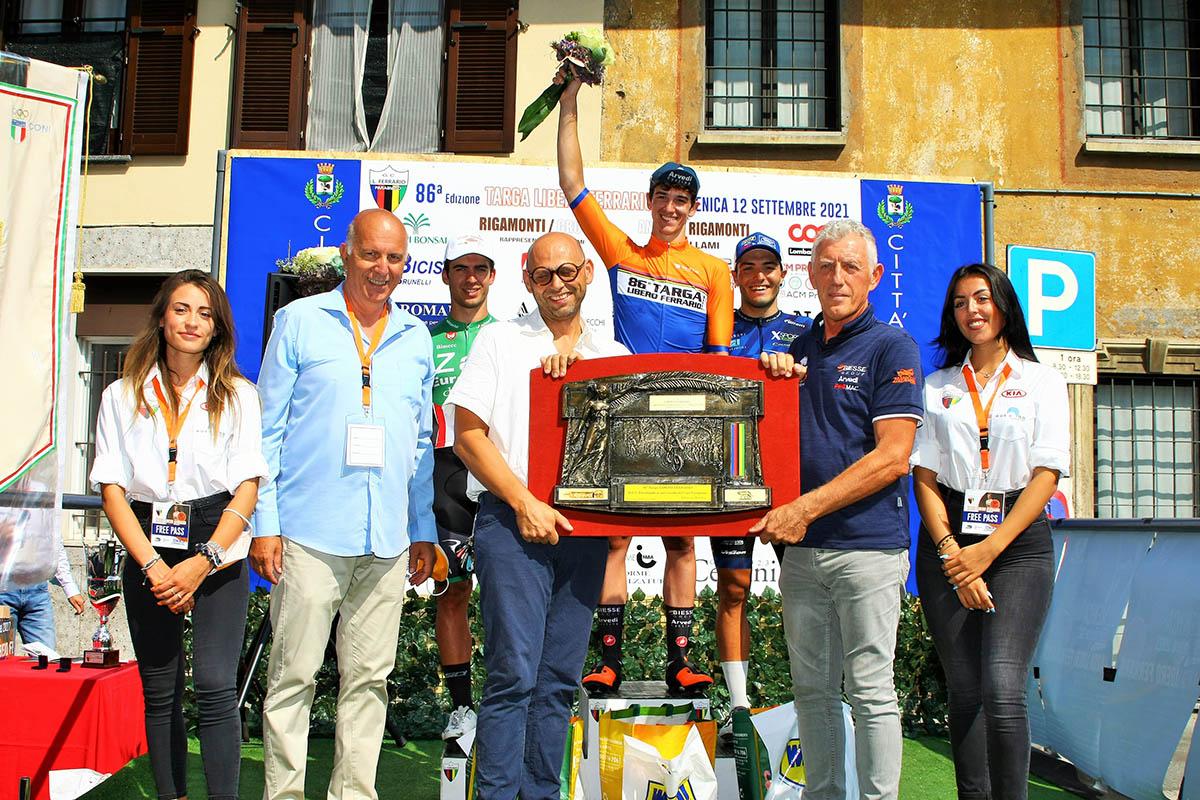 Il podio della Targa Libero Ferrario 2021 a Parabiago (foto Berry)
