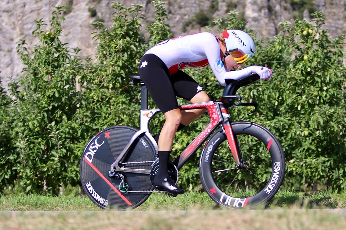 Marlen Reusser vincitrice del Campionato Europeo a cronometro Donne Elite di Trento (foto Photobicicailotto)
