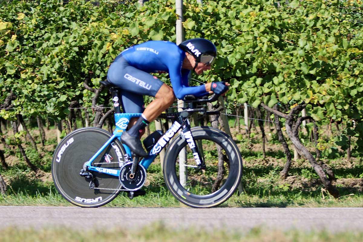 Filippo Baroncini in azione al Campionato Europeo a cronometro Under 23 (foto Photobicicailotto)