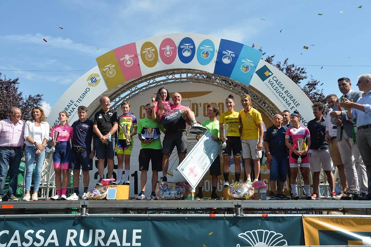 Il podio della Coppa Rosa 2021 (foto Daniele Mosna)